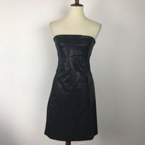 Guess Jeans Faux Leather Strapless Dress D577